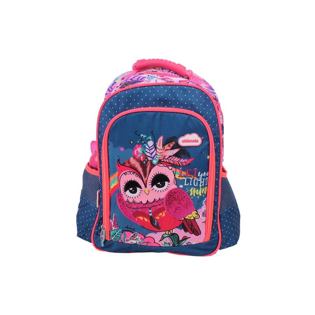 Mochila Escolar Infantil - Coruja - CHIMOLA - CH2118  - Menino & Menina 2