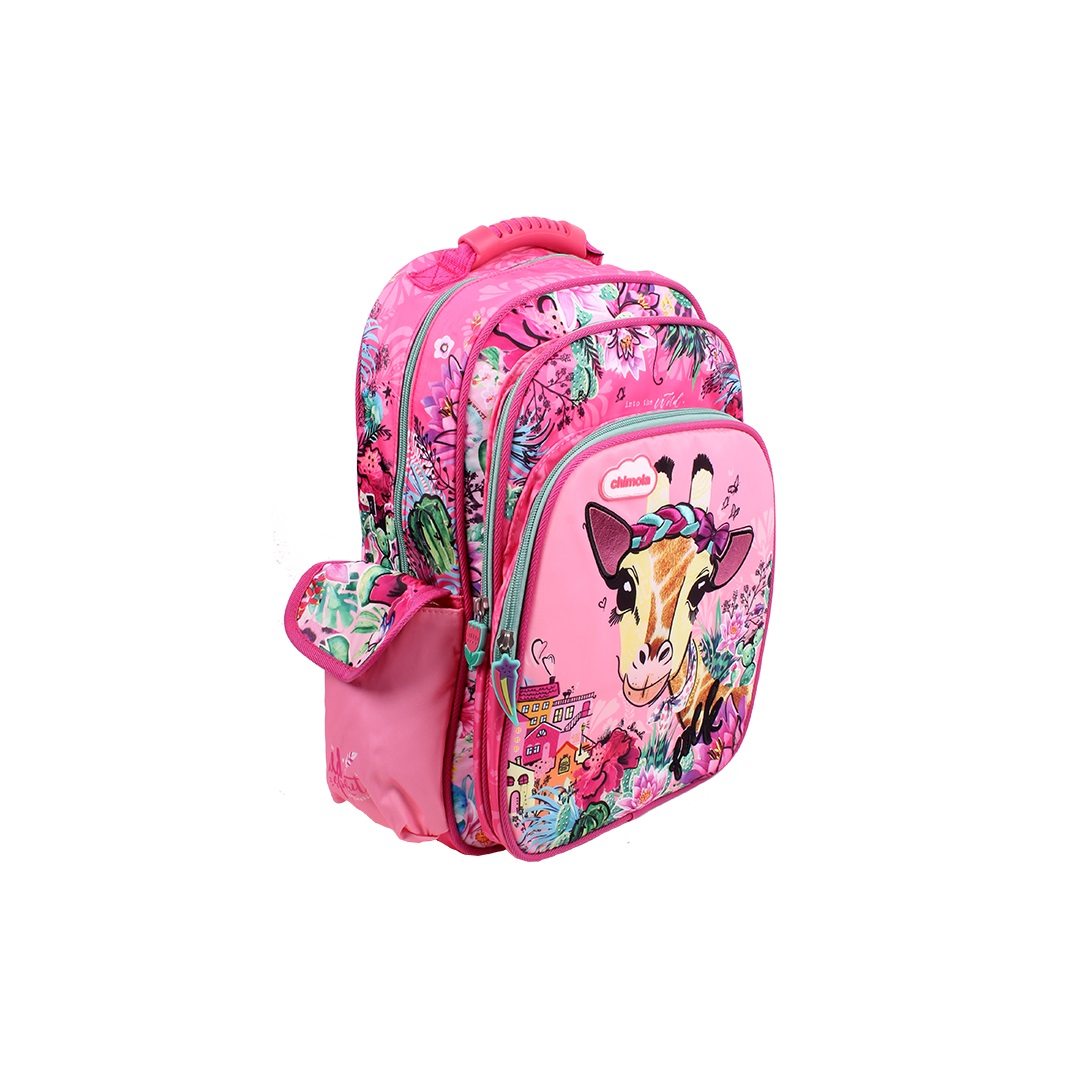 Mochila Escolar Infantil - Girafa - CHIMOLA - CH3116  - Menino_Menina