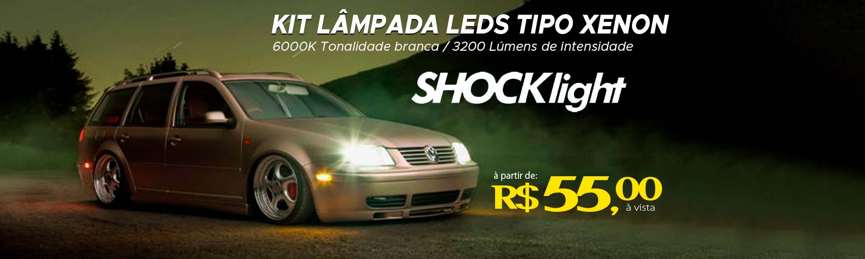 Kit Lâmpadas de leds Headlight Shocklight