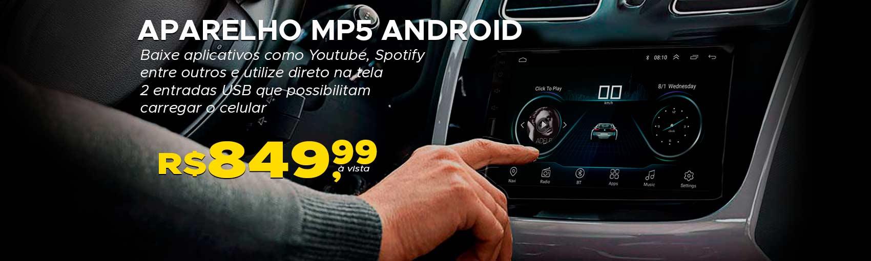 Aparelho MP5 Android