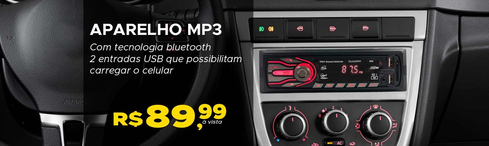 Aparelho MP3 com bluetooth