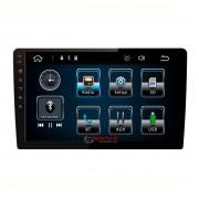 """Aparelho 2 Din com tela 9"""" MP8 Plus Taytech com bluetooth, espelhamento celular Android e IOS, entrada USB"""