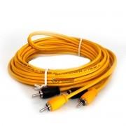 Cabo RCA 5 metros INOV Series Uniq Cable amarelo
