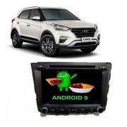 """Central multimídia Creta Android tela de 8"""" GPS, TV Digital, wifi e espelhamento"""