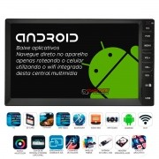 Central multimídia Taytech Android T100 Plus universal GPS, TV Digital e baixe aplicativos