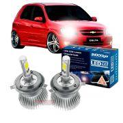 Kit LED Celta 2000 até 2015 Prisma 2006 até 2020 tipo xenon farol alto e baixo H4 35W Headlight