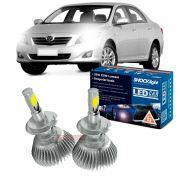 Kit LED 2D Headlight Shocklight tipo xenon Corolla 2008 2009 2010 2011- farol baixo H7 35W