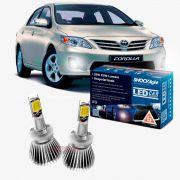 Kit LED 2D Headlight Shocklight tipo xenon Corolla 2012 2013 2014 - farol milha H27 35w