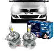 Kit LED tipo xenon Logan 2007 2008 2009 2010 2011 2012 2013 farol alto e baixo H4 35/35W Headlight