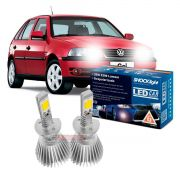 Kit LED tipo xenon Gol G3 farol duplo 2000 2001 2002 2003 2004 2005 farol alto H1 35W Headlight