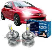 Kit LED Peugeot 206 Farol Simples tipo xenon para farol alto e baixo H4 35W Headlight