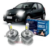 Kit LED Sandero 2011 2012 2013 2014 tipo xenon farol alto e baixo H4 35/35W Headlight