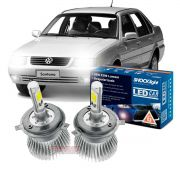 Kit LED Santana tipo xenon farol alto e baixo H4 35/35w Headlight