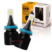 Kit de lâmpadas LED Dual Color Headlight Shocklight  tipo xenon H11 25W ilumina branco e amarelo