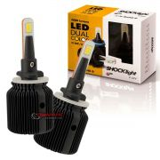 Kit de lâmpadas LED Dual Color Headlight Shocklight  tipo xenon H27 25W ilumina branco e amarelo