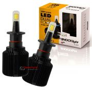 Kit de lâmpadas LED Dual Color Headlight Shocklight  tipo xenon H3 25W ilumina branco e amarelo