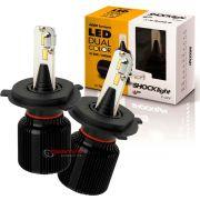 Kit de lâmpadas LED Dual Color Headlight Shocklight  tipo xenon H4 25W ilumina branco e amarelo