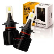 Kit de lâmpadas LED Dual Color Headlight Shocklight  tipo xenon H7 25W ilumina branco e amarelo