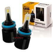 Kit de lâmpadas LED Dual Color Headlight Shocklight  tipo xenon H8 25W ilumina branco e amarelo