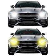 Kit LED Dual Color tipo xenon Shocklight Ford Ka 2015 até 2020 H4 25W ilumina branco e amarelo