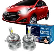 Kit LED HB20 2013 até 2020 tipo xenon farol alto e baixo H4 35W Headlight