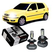 Kit Ultra LED Polo 1996 1997 1998 1999 2000 tipo xenon farol alto e baixo H4 50W
