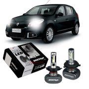 Kit Ultra LED Sandero 2011 2012 2013 2014 tipo xenon farol alto e baixo H4 50W