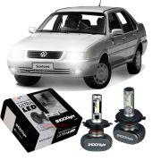 Kit Ultra LED Santana 1985 até 2006 tipo xenon farol alto e baixo H4 50W