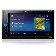 """Multimídia Receiver Pioneer MVH-A208VBT 6,2"""" com Bluetooth"""