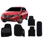Tapete Carpete Honda City Sport Personalizado com bordado nos dois tapetes dianteiros (5 peças)