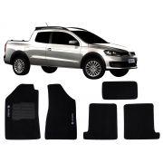 Tapete Carpete VW Saveiro G6 2010 2011 2012 2013 2014 Personalizado com bordado nos dois tapetes dianteiros (5 peças)