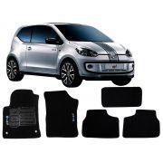 Tapete Carpete VW UP 2014 em diante Personalizado com bordado nos dois tapetes dianteiros (5 peças)