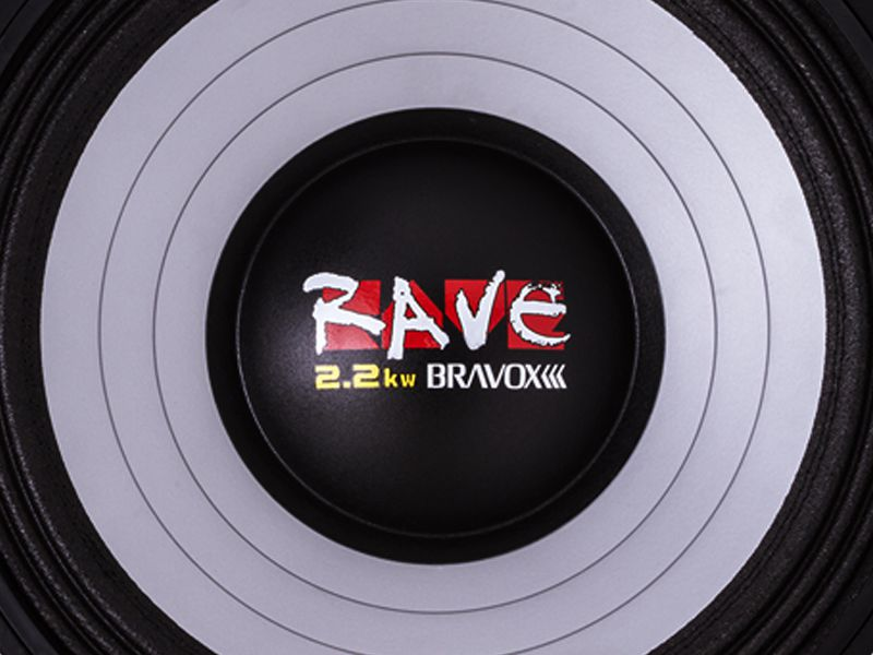 "Alto falante 15"" Bravox Woofer RAVE RV15 S4 (1100 WRMS)"