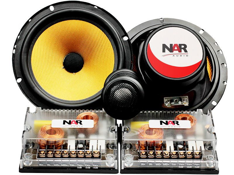 "Alto falante 6"" NAR Kit 2 vias Kevlar 650-CS3 60WRMS"