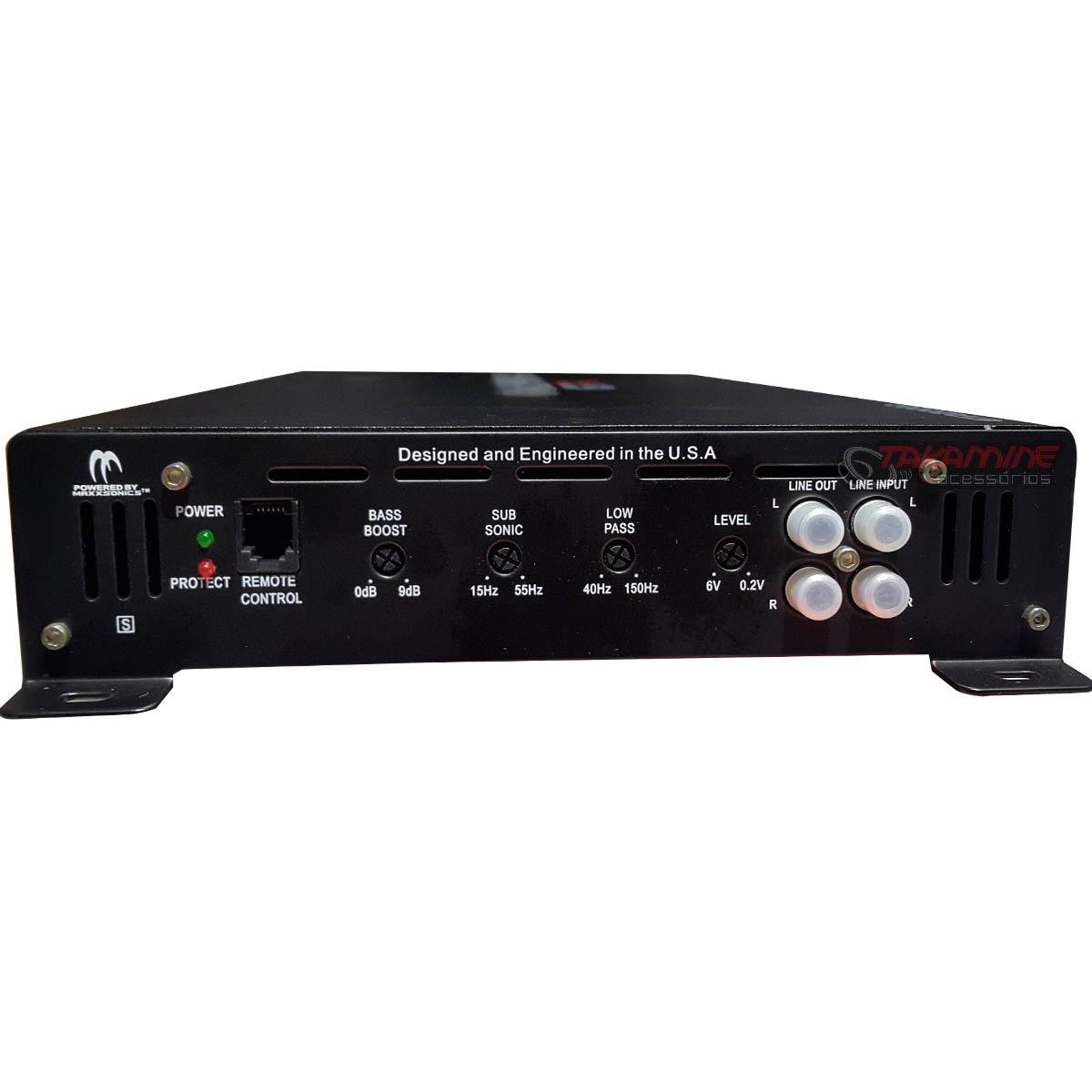 Amplificador GTR2000D Crunch 1 canal mono 2000W