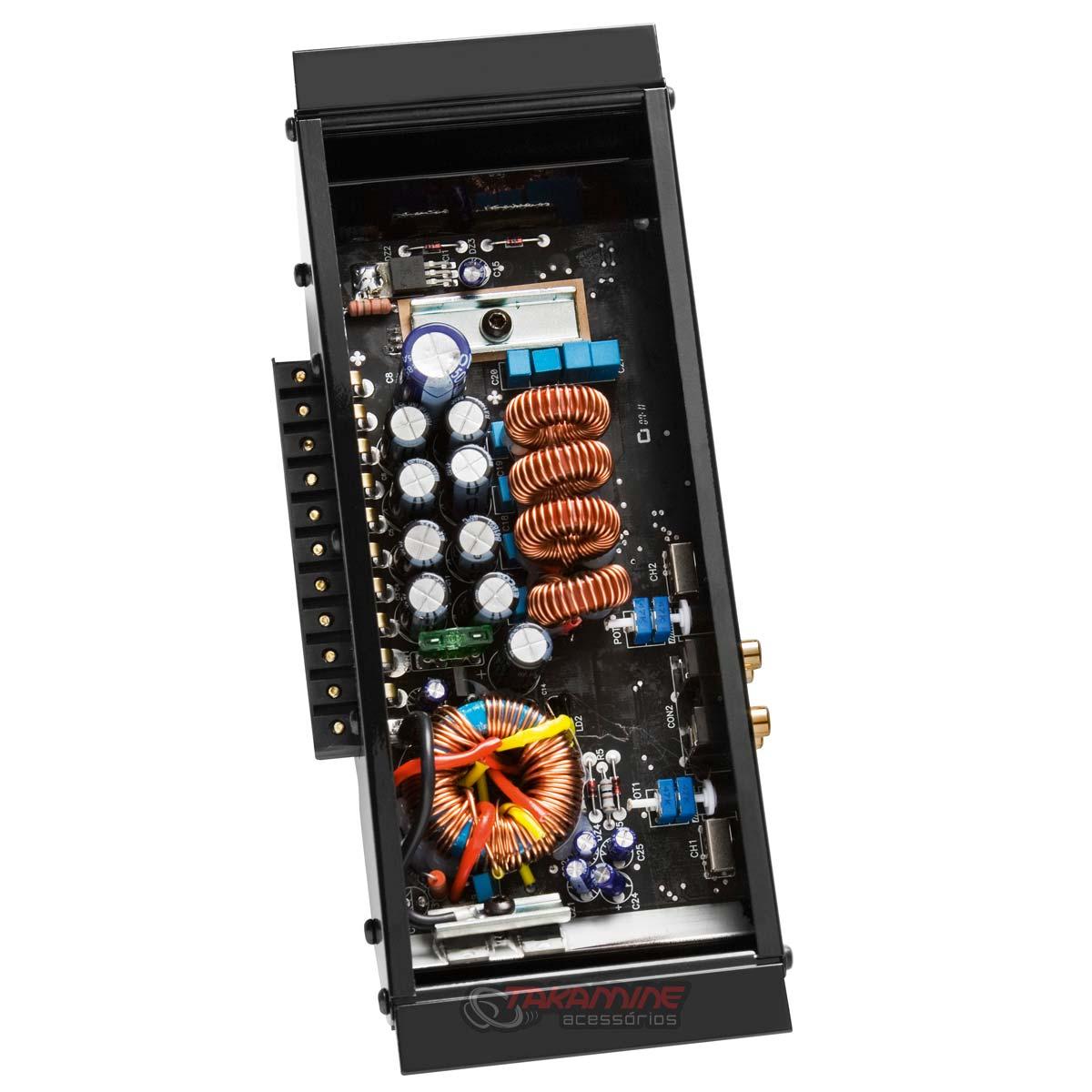 Amplificador HF404 Corzus 4 canais estéreo 400WRMS Digital