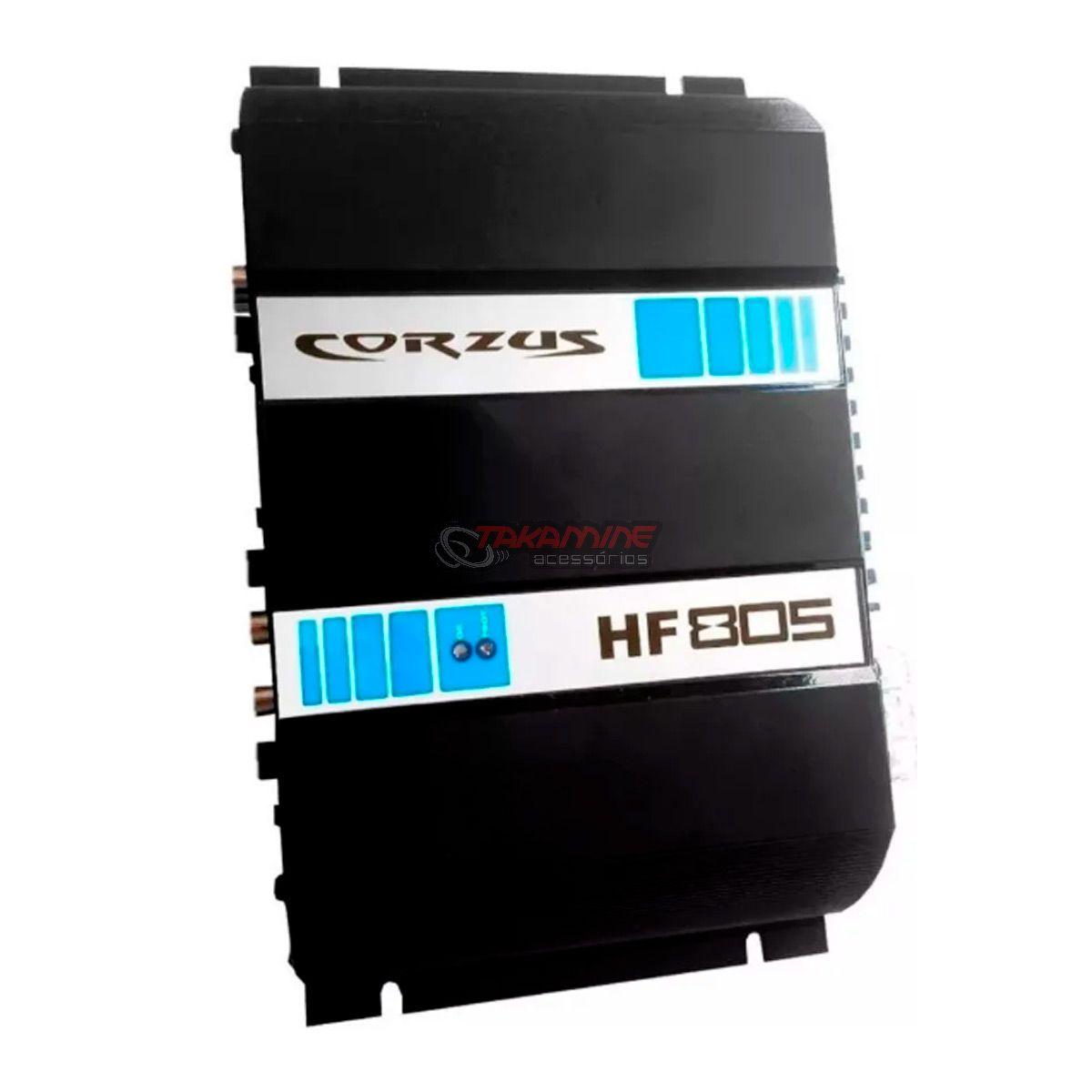 Amplificador HF805 Corzus 5 canais estéreo/mono 800WRMS Digital
