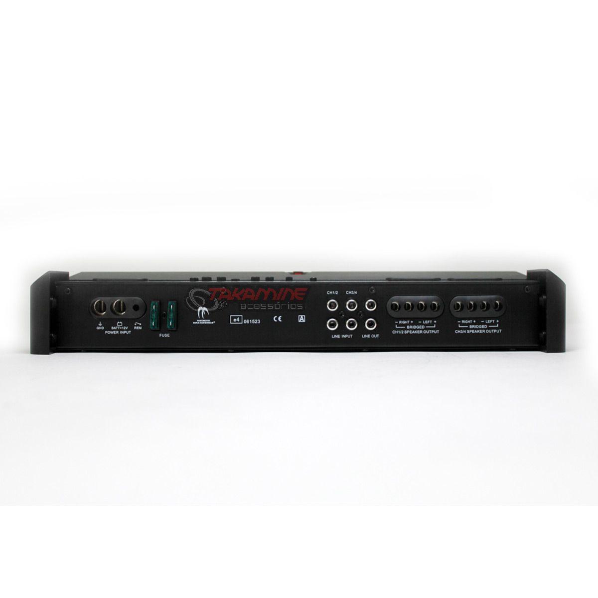 Amplificador RA640.4 MB Quart 4 canais estéreo/mono 1000WRMS