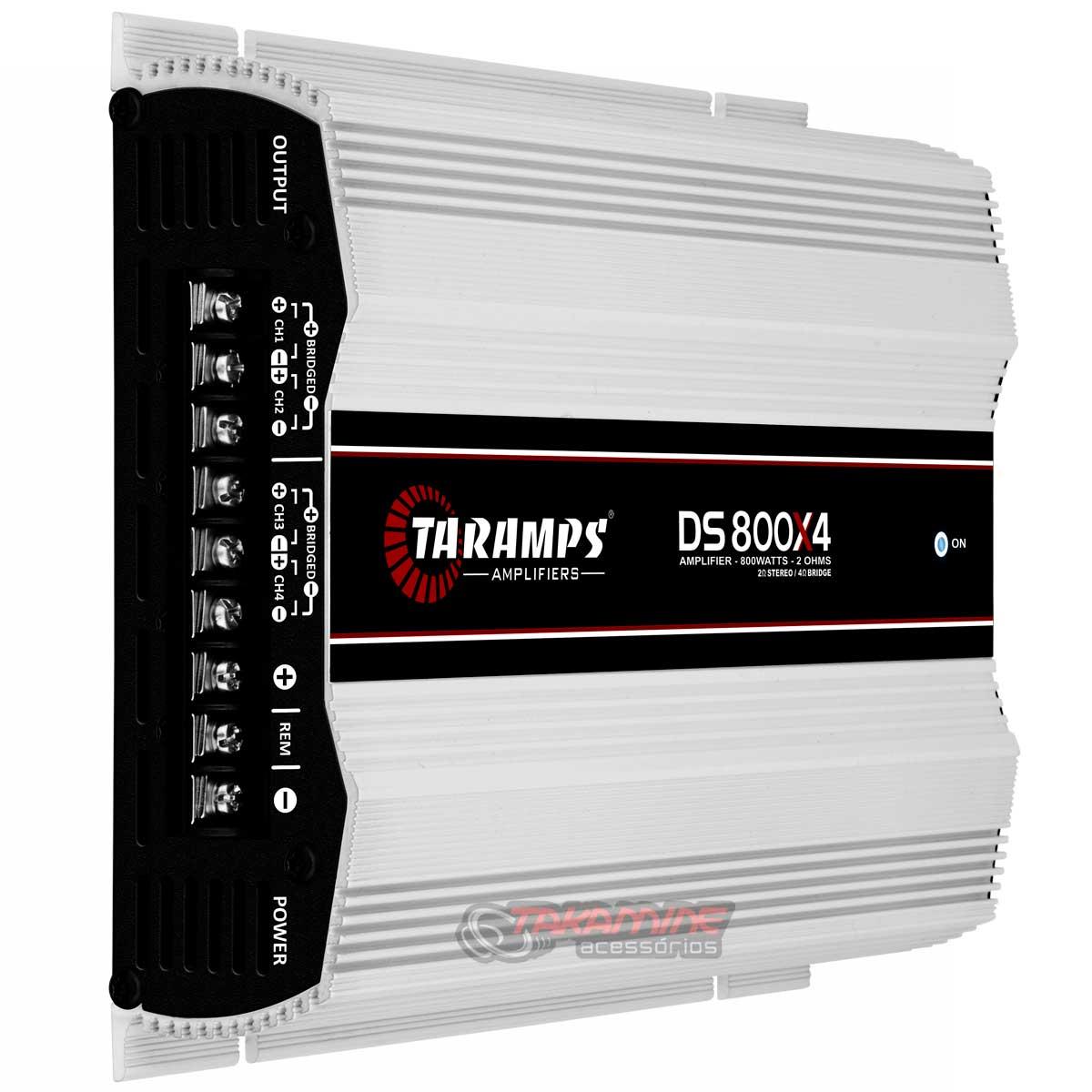 Amplificador Taramps DS800x4 multicanal 800WRMS Digital