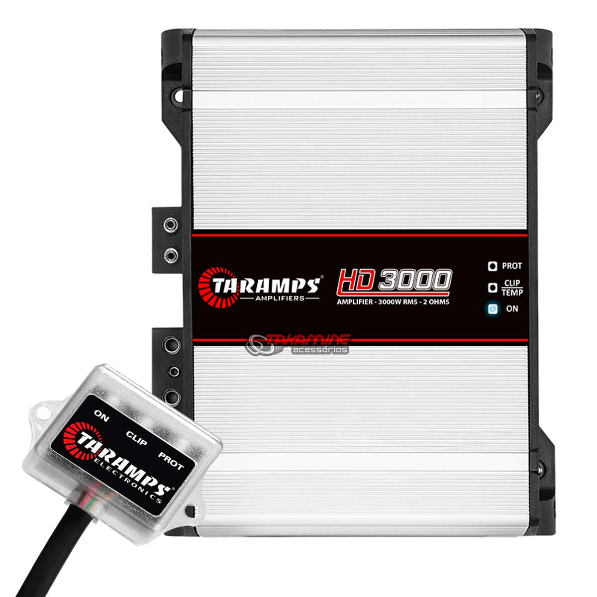 Amplificador Taramps HD3000 1 canal 3.000 WRMS tecnologia digital