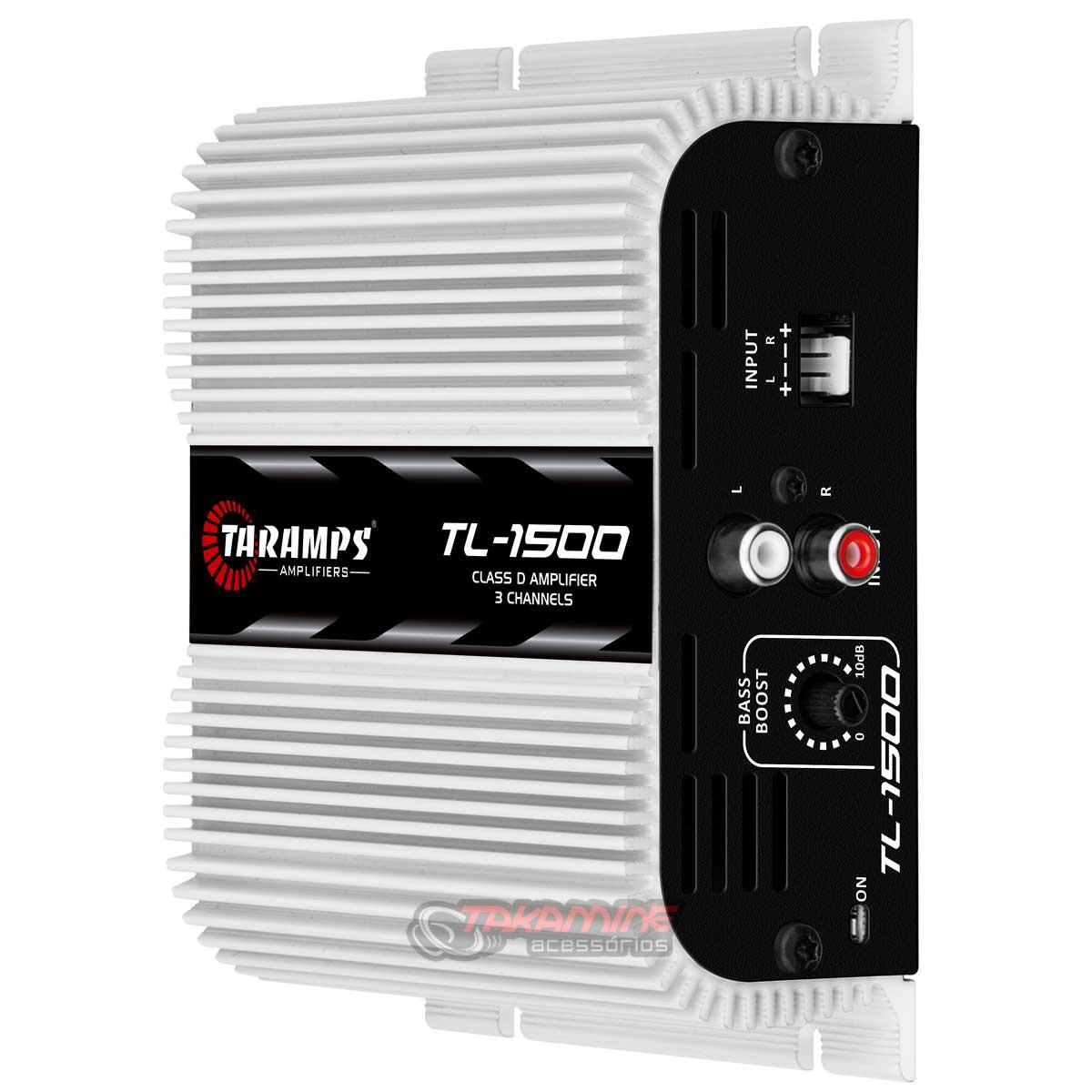 Amplificador Taramps TL1500 3 canais 390WRMS tecnologia digital