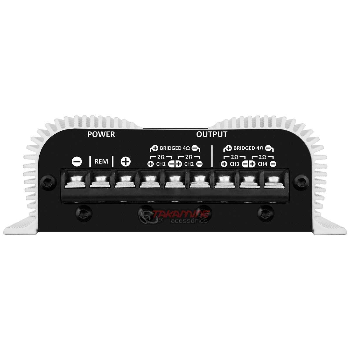 Amplificador Taramps TS400x4 multicanal 400WRMS tecnologia digital