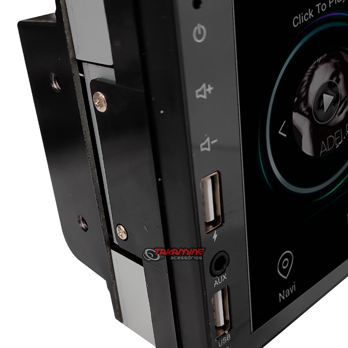 Aparelho 2 Din MP5 sistema Android com Bluetooth 2 entradas USB wifi integrado