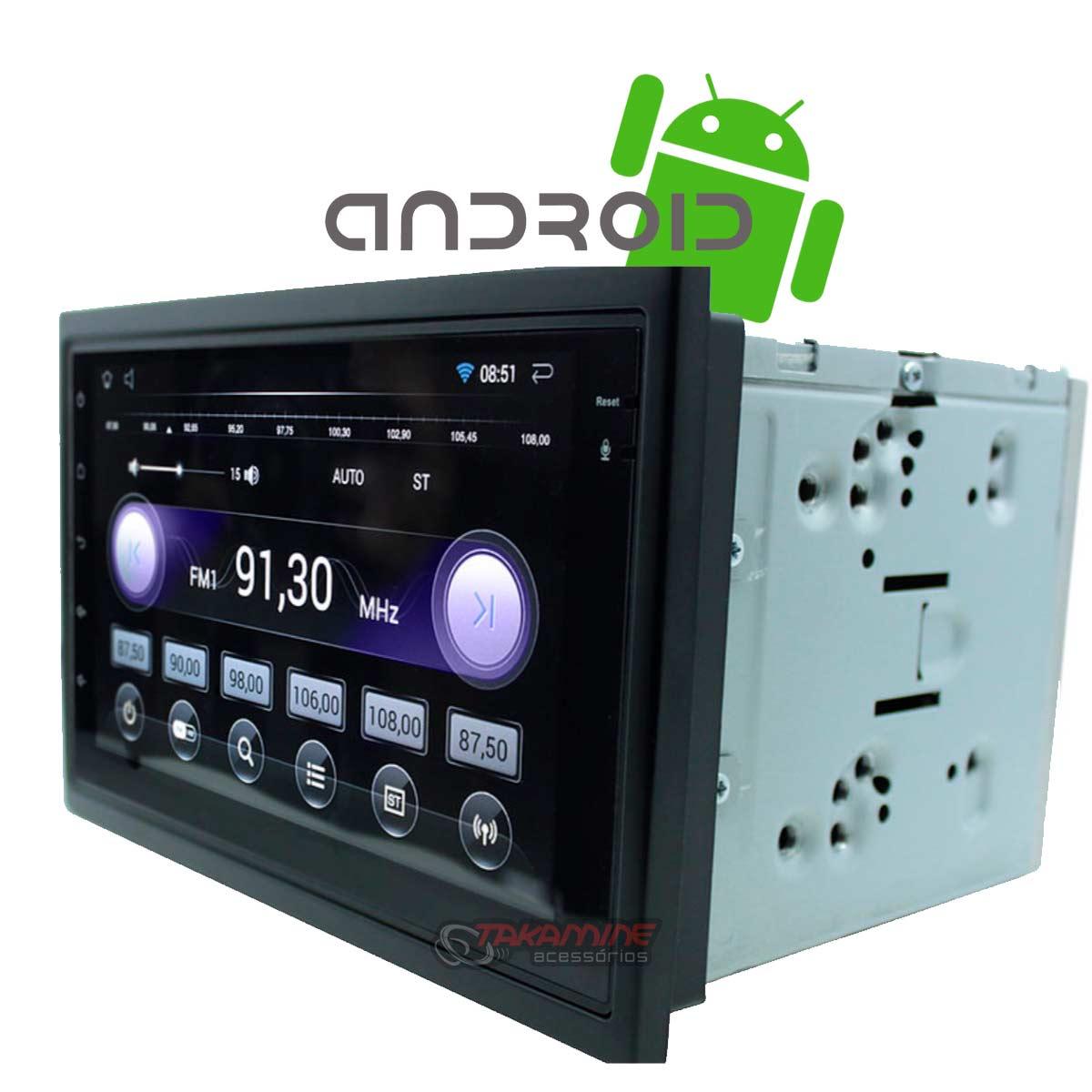 Aparelho 2 Din UBER com Bluetooth, Espelhamento, Entrada USB, Wifi, e 16GB memória