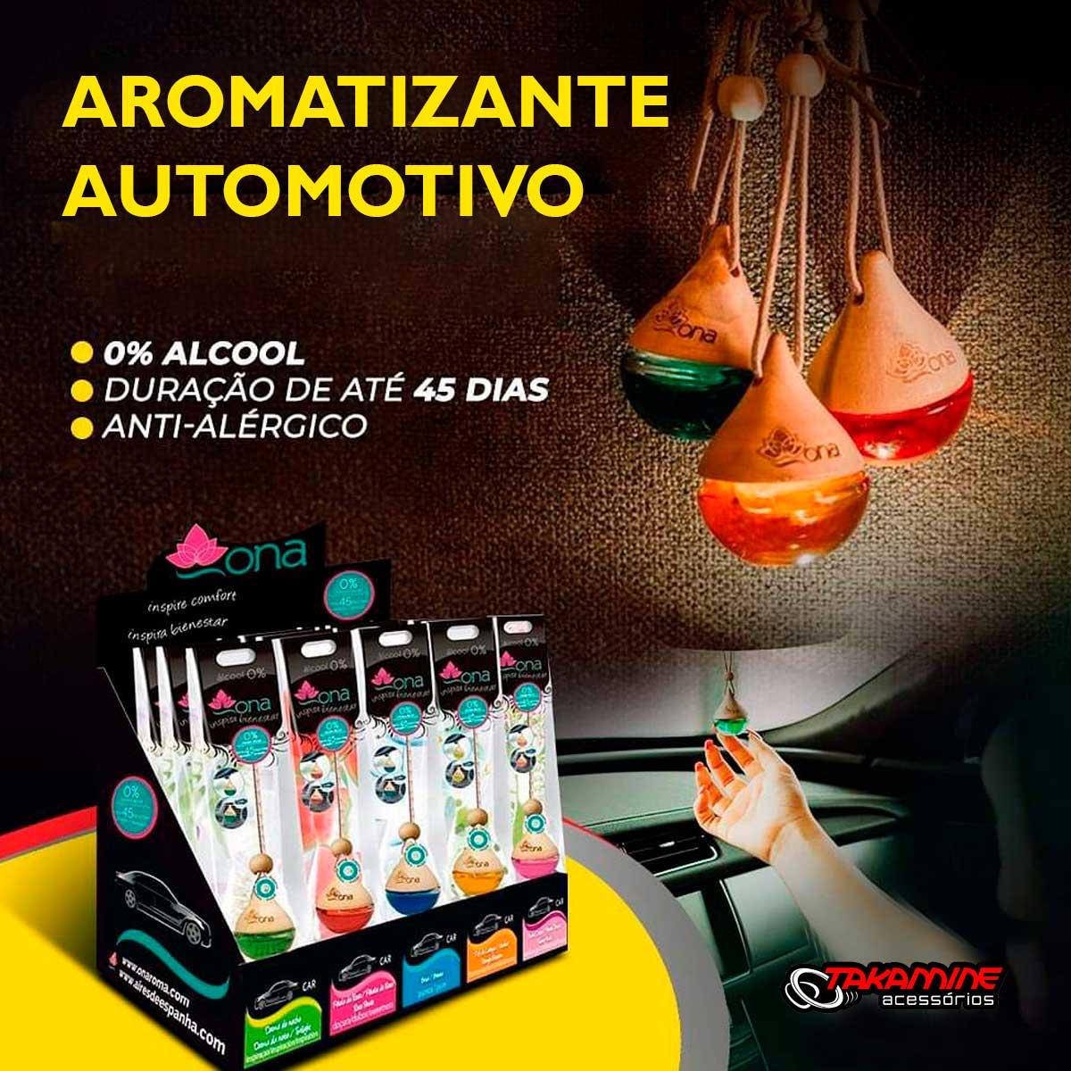 Aromatizante para Carro ONA fragância Pétala de rosa vidro 6ml