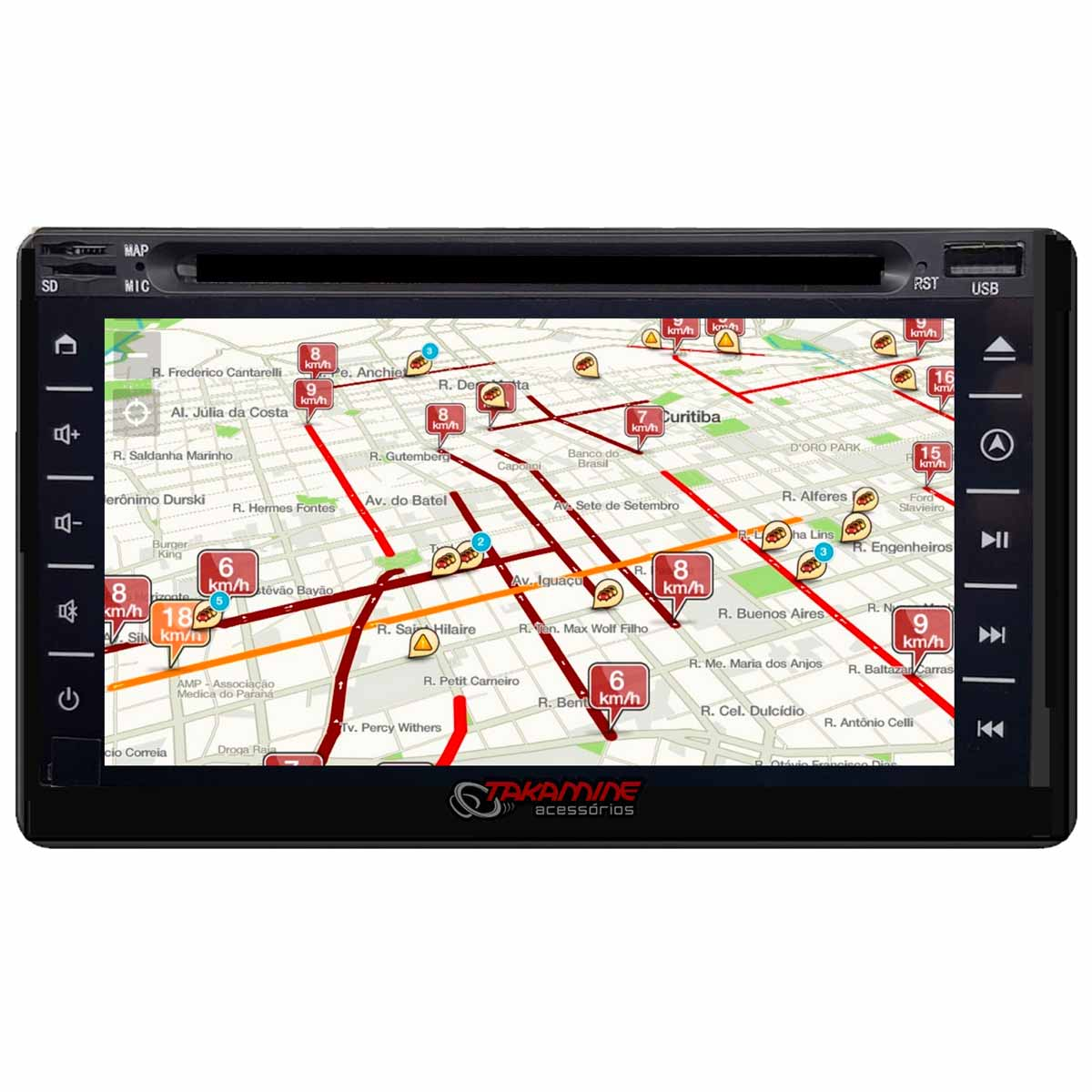 Central multimídia Taytech Android universal GPS, TV Digital e DVD T95 Dual Plus