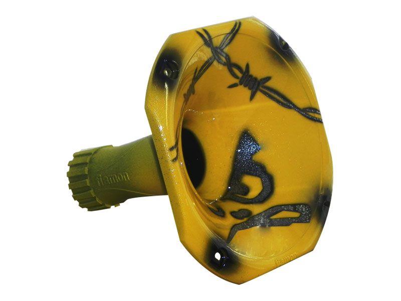 Cone de Corneta Grafitada Bravo Amarelo 1450 (Curto)