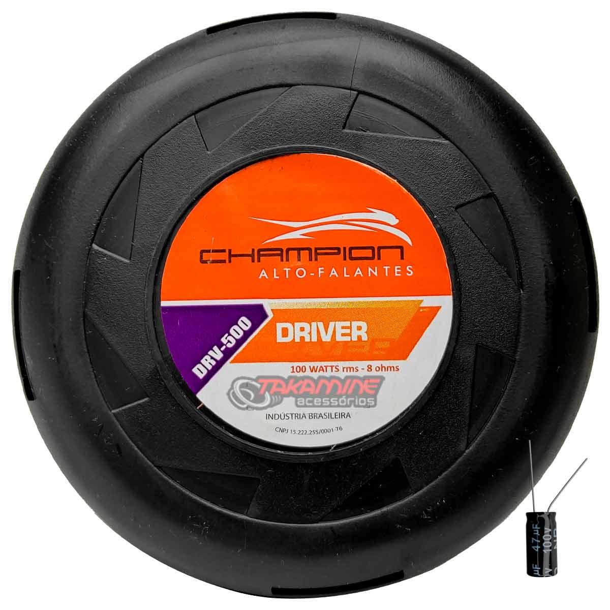 Driver Champion DVR 500 100WRMS + Corneta + Capacitor