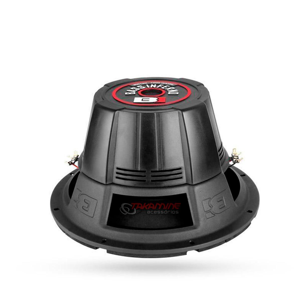 """Falante subwoofer Bass Inferno 10"""" BW10D 150WRMS"""