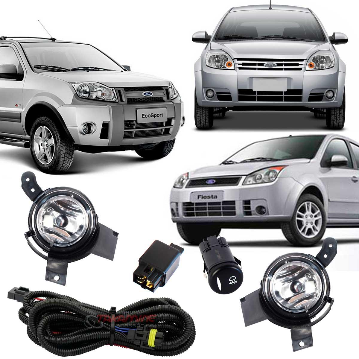 Farol milha Ka 2008 2009 2010 2011 Fiesta 2007 até 2012 Ecosport 2008 até 2012 botão modelo original